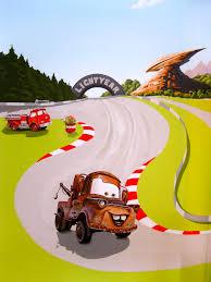 pixar s cars mural for mater and red in emma bunton and jade jones cars mural
