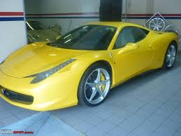 ferrari yellow 458 pics ferrari 458 italia looks great in metallic yellow team bhp