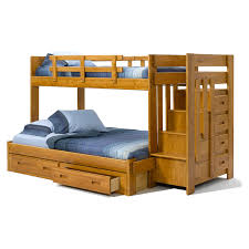 Woodcrest Heartland Twin Over Full Reversible Stair Bunk Bed - Stairway bunk bed twin over full