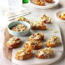 almond bacon cheese crostini recipe taste of home