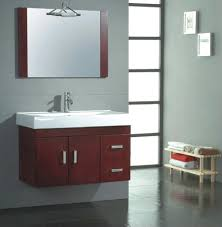 ikea narrow bathroom cabinet in small bathroom with gray walls