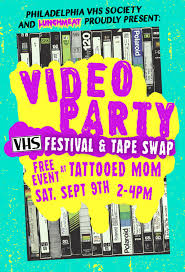 video party vhs festival u0026 tape swap tattooed mom