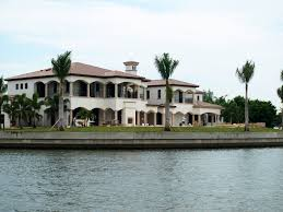 mediterranean style mansions waterfront mansions home tour pier dolphin cruises