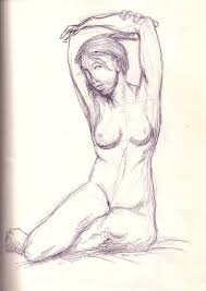 woman sitting sketch study by theartspark on deviantart