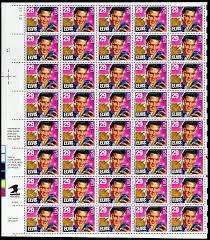 amazon com elvis presley full sheet of 40 x 29 cent stamps scott
