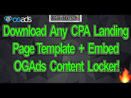 download any cpa landing page template embed ogads content