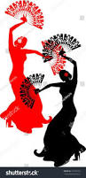 silhouette flamenco dancer fan stock vector 157916723 shutterstock