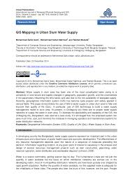 Information Mapping Gis Mapping In Urban Slum Water Supply Pdf Download Available