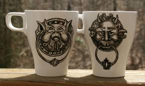 Great Knockers Labyrinth Door Knocker Mugs