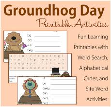 groundhog printable activities keeper