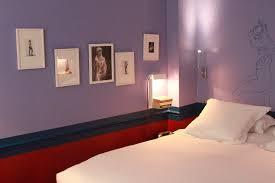 chambre violet aubergine dcoration de chambre 55 ides de couleur murale et tissus