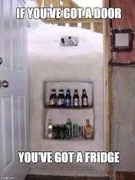 Meme Nyc - nyc blizzard door fridge imgflip