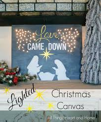 lighted christmas canvas all things heart and home