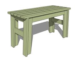 Simple Wooden Park Bench Plans by 15 Free Bench Plans For The Beginner And Beyond