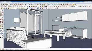 tutorial sketchup modeling sketchup tutorial part 04 living room modeling plant youtube