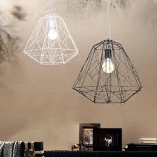 Single Light Chandelier Single Light Geometric Cage Ceiling Pendant Light Chandelier
