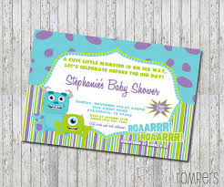 inc baby shower top 14 monsters inc baby shower invitations for your inspiration
