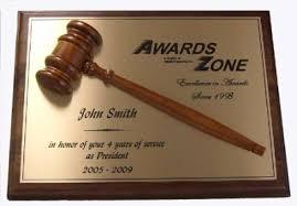 retirement plaques walnut half gavel plaque