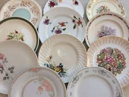 mismatched plates wedding lot 6 gorgeous vintage mismatched dinner plates 9 5 10 5 tea