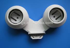 ip67 waterproof dual double pole t5 t8 fluorescent lamp holder