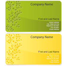 Design Visiting Card Free Floral Design Business Card Template Vector Business Card