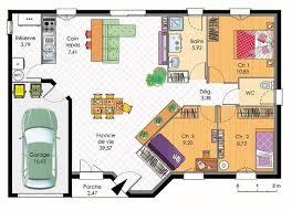 plan de maison en l avec 4 chambres plan de maison plain pied avec 4 chambres plans maisons