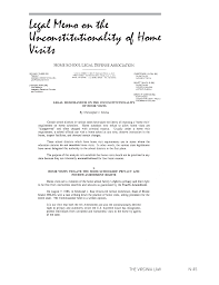 Design Options For Home Visiting Evaluation Legal Memorandum On The Unconstitutionality Of Home Visits Home