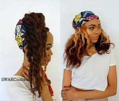 headband wrap satin lined wide headband wrap ankara wrap pineapple bun