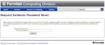 Fermilab Help Desk Draft Password Reset User Guide