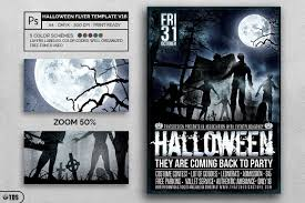 halloween flyer template v16 scary design psd templates
