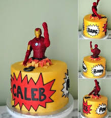 fabulous cakes by tonya iron man busting out of a comic book