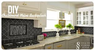 painted kitchen backsplash ideas diy tutorial chalkboard paint backsplash 250 home depot gift