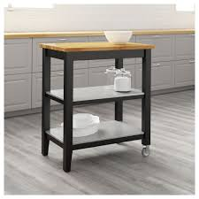 decor white stenstorp kitchen island with wood top and wheels for