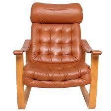 Orange Leather Chair Finland Leather Armchair Mid Century Modern Oy Bj Dahlqvist Ab