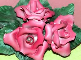 italian porcelain roses 239 best capodimonte images on crystals porcelain and