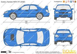 subaru wrc 2007 the blueprints com vector drawing subaru impreza wrx sti