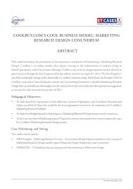 coolbuy com u0027s cool business model marketing research design conundrum