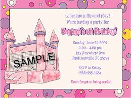 bounce house castle inflatable birthday party invitations bounce