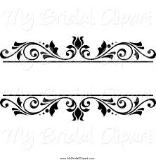 wedding flowers clipart bridal clipart of a black and white floral wedding frame by vector