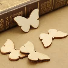50pcs lot 60mm blank butterfly unfinished wooden crafts