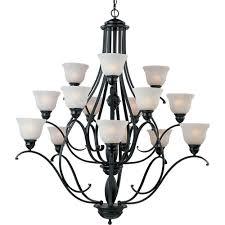 maxim lighting linda 15 light black chandelier 11809icbk the