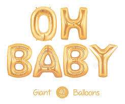 giant oh baby balloons 40