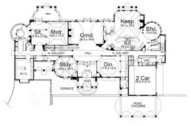 Floor Plans With Porte Cochere Chateau De Le Ravinere Mansion House Plans Luxury Plans