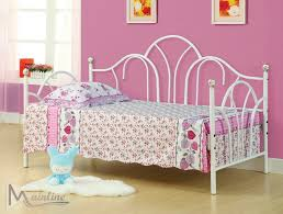 white metal daybed with trundle dorel silver trundle for daybed