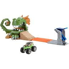 monster truck jam toys wheels monster jam dragon blast challenge play set walmart com