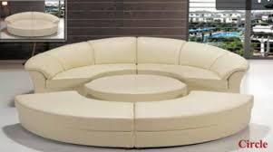 divani casa circle modern leather circular sectional 5 piece
