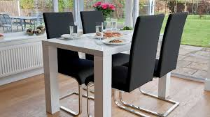 4 Seater Dining Table And Chairs Astounding Attractive 4 Seater Dining Table Seat Set White Gloss