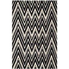 Black And White Zig Zag Rug Chevron Black Area Rugs Rugs The Home Depot