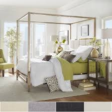 Gold Canopy Bed Solivita Chagne Gold Metal Canopy Bed With Vertical Panel