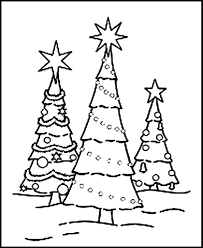 free printable christmas tree coloring pages for kids inside eson me